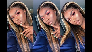 Brown Girl ASH Blonde Patch With Highlights on a Frontal WIG