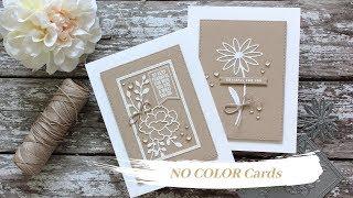 NO-COLOR Cards + My Favorite Sentiment Stamp Set