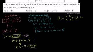 Tutorial) IIT JEE Mathematics  Symmetric and Skew Symmetric Matrices   IIT JEE, JEE MAIN, JEE ADVANC