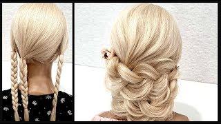 Простая и Быстрая прическа.Красивые Прически пошагово!Simple and Fast Hairstyle.BEAUTIFUL HAIRSTYLES