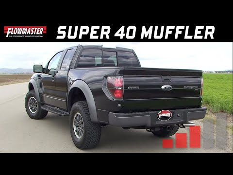 Ford F-150 V8 Raptor - Flowmaster Super 40 Muffler Sound 9530462