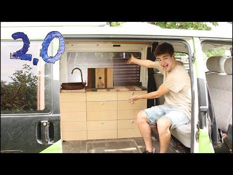 Designer-Küche für meinen VW-Bus selber bauen! | F.06 Umbau 2.0