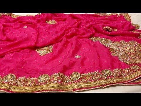Designer Indian SareeOccasion sareeDesigner SareeWomen Party Wear Saree Soft Net Saree  Full Embroidery Work  Unstitch BlouseT0815