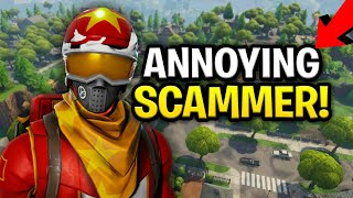 Annoying Dumb Scammer Scams Himself! (Scammer Get Scammed) Fortnite Save The World