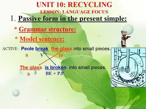 Tiếng Anh Lớp 8 (Hệ 7 Năm):   UNIT 10   GRAMMAR   PASSIVE VOICE