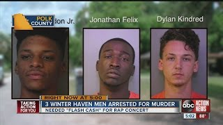 Winter Haven man killed during rap cash robbery, 3 young men arrested