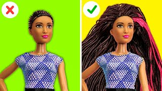 40 BARBIE HACKS || Miniature Doll Projects And Dollhouse Hacks