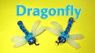 Rainbow Loom Designs: DRAGONFLY Charm: How To Make Loom Bands (DIY Mommy)
