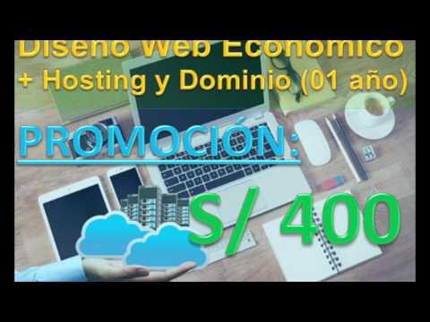 Diseño de Páginas Web Administrables Responsive Hosting y Dominio - Hostsant.com