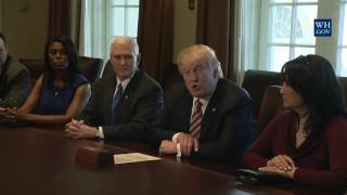 President Donald Trump Meets with the Congressional Black Caucus Executive Committee
