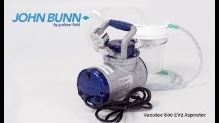 John Bunn EV2 800 Vacutec Aspirator Setup Youtube Video Link
