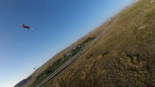 Big stick and mustang followed by fpv drone