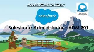 Salesforce Administrator Preparation - ADM 201