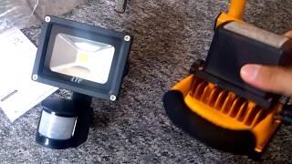 LTE LED 10W Strahler Fluter 6000K 760LM Kaltweiß IP65 Wasserdicht PIR Bewegungsmelder Scheinwerfer