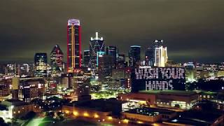 4k Drone Trip Over Dallas On The First Friday Night Of The Covid-19 Closure Of Bars And Restaurants