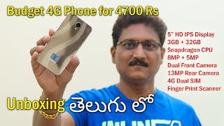 Budget 4G Phone for 4700 Rs Unboxing in Telugu...