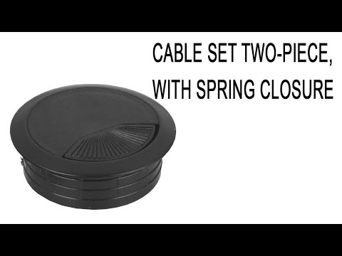 Executive Grommet Cable Hole Covers | with Spinning Top