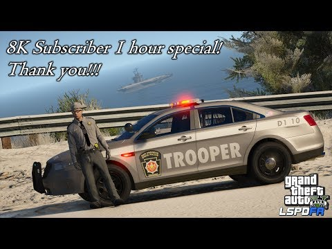 GTAV-LSPDFR Day-341 8K Sub 1 Hour Special! PA State Police (Based) Road To 10K!