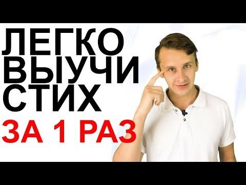 КАК БЫСТРО ВЫУЧИТЬ СТИХ   Выучить стих за 5 минут   Стихотворение Пушкина   Развитие памяти