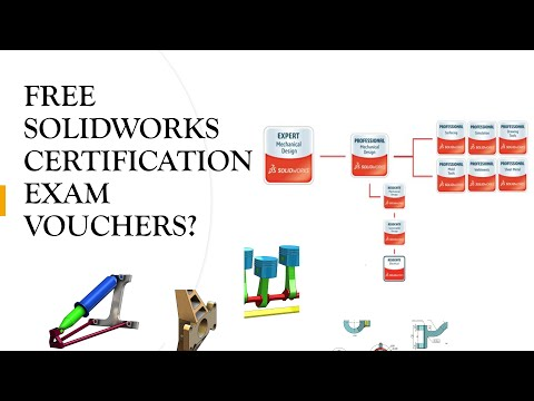 How to get free Solidworks Certification Exam Vouchers - YouTube