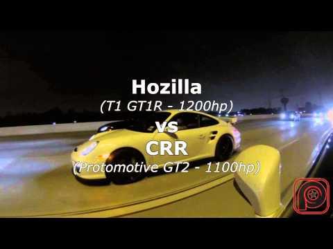 TX2K15 - Hozilla vs CRR vs Floghard - GTR vs 911's 1000HP+