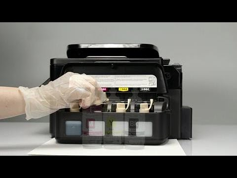 How to Fill the Ink Tanks