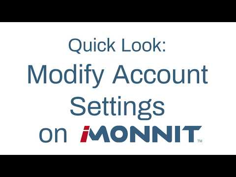 how to modify account settings on iMonnit