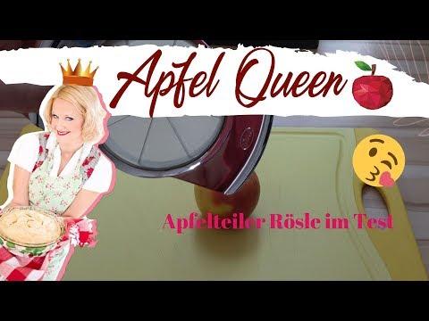 Apfelteiler Rösle 🍎Test Apfelteiler für Äpfel, Birnen und Kartoffeln