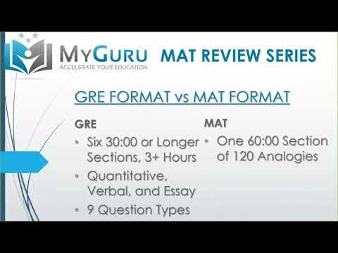 MyGuru Tutoring - Miller Analogies Test (MAT) Overview - YouTube