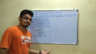 Simulation Modeling | Tutorial #12 | Auto-Correlation Test (Solved Problem)