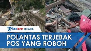 Pos Polisi di Depok Roboh karena Longsor, Satu Anggota Polantas Sempat Terjebak Reruntuhan