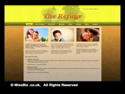 Religion related web design samples ( MixoBiz )