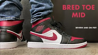 Jordan 1 Mid Bred Toe Review and On Feet