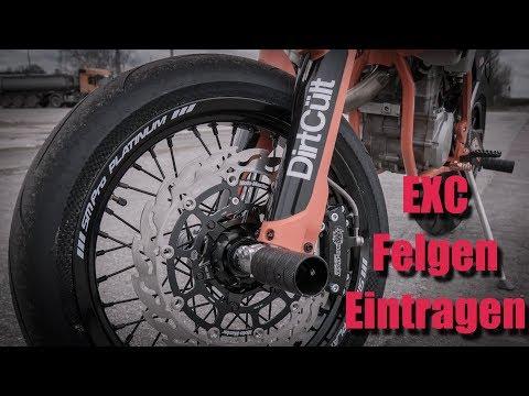 KTM EXC - Supermoto Felgen Eintragen