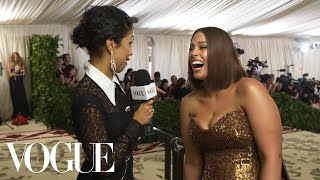 Ashley Graham on How to Survive Your First Met Gala | Met Gala 2018 With Liza Koshy | Vogue - Video Youtube