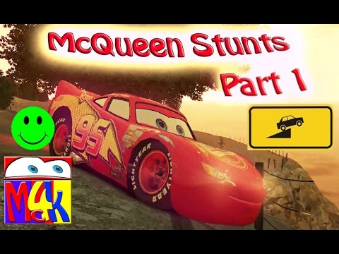Disney Pixar Cars McQueen Stunts In City -Part 1- / Mc4K