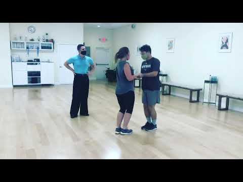 Nate and Neely first lesson  www.letsdance.miami
