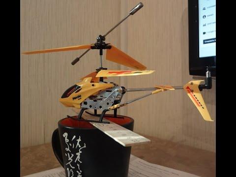 ремонт вертолета с дистанционным управлением после падения