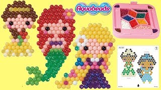 Disney Princess Aquabeads feat. Ariel, Belle, Rapunzel Easy D.I.Y. Craft for Kids