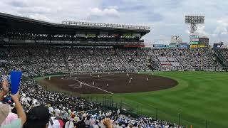 折尾愛真戦2018.8.10日大三チャンス一回裏満塁日置君