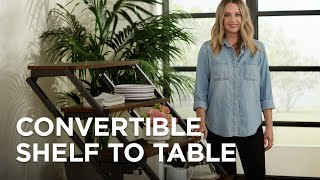Convertible Bookshelf to Table Designs