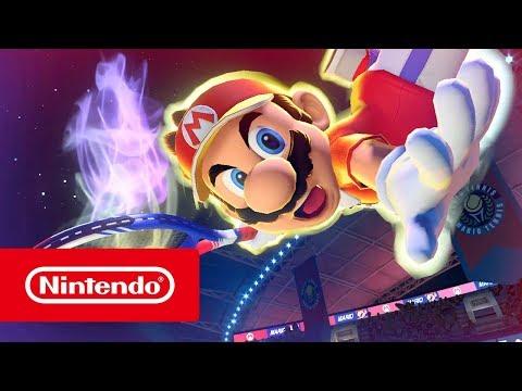 Vidéo de gameplay pour l'annonce de la date de sortie de Mario Tennis Aces
