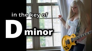 ♫ FUN HARD ROCK SHUFFLE Backing Track in D minor  ♫  GUITAR SOLO BACKING TRACK