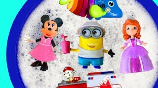 Bucket of Toys - Learn Characters with Paw Patrol, Minions, Super Heroes, Minnie Mouse for toddlers