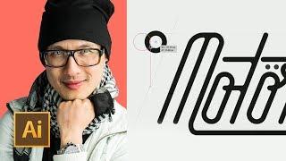 Logo Design Critique: Custom Lettering. How to Draw Monoline M in Illustrator