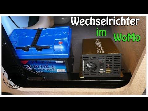 Wechselrichter im Wohnmobil – Strom 12 V zu 230 V mit Zusatzbatterie