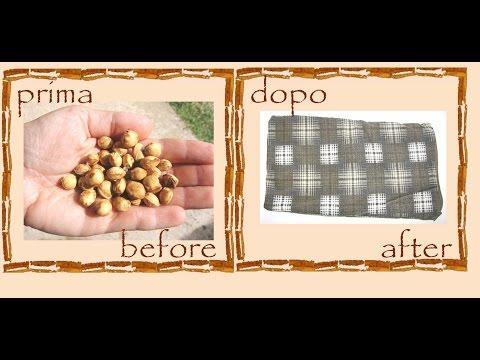 Riciclo creativo vecchi abiti: cuscino con noccioli di ciliegie -tutorial- faidate