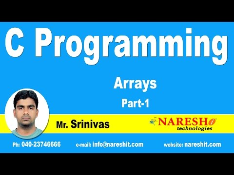 C Array – Part 1 | C Language Tutorial | Mr. Srinivas