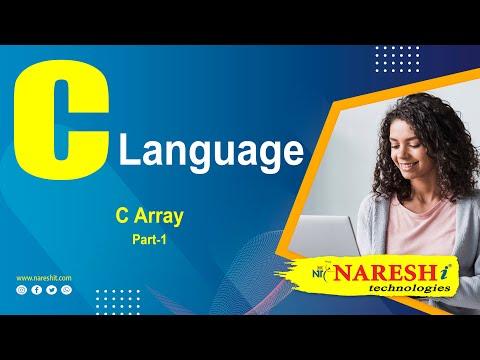 C Array – Part 1 | C Language Tutorial | Mr. Srinivas