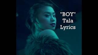 Tala   BOY (Lyrics)